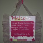 Baby Shadow Box & Baby Welcome Sign