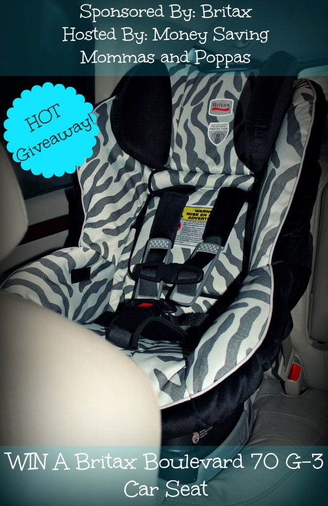 giveaway britax boulevard 70 g 3 car seat. Black Bedroom Furniture Sets. Home Design Ideas