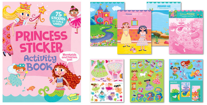 the princess sticker activity book was a lot of fun for my 4 year old too she loves stickers and these are repositional which is a plus - Activity Books For 4 Year Olds