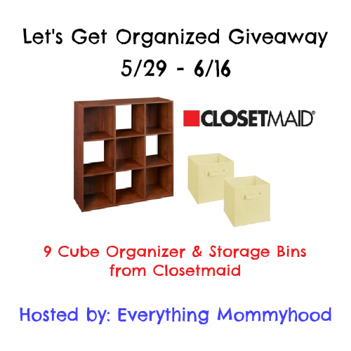 Enter to with a 9 Cube Organizer & Storage Bins from Closetmaid, Ends 6/16