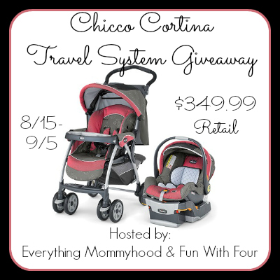 chicco Chicco Cortina Travel System Giveaway!