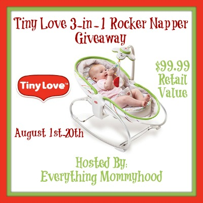 tinyloveevent Giveaway: Tiny Love 3 in 1 Rocker Napper, 8/1 20