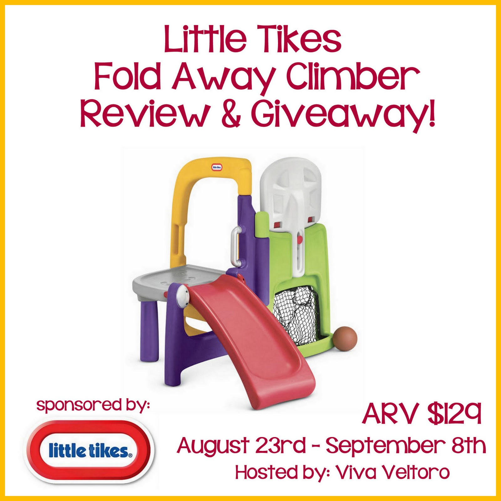 Design Your Own Swag Contest Ends Today: Little Tikes Fold Away Climber Giveaway