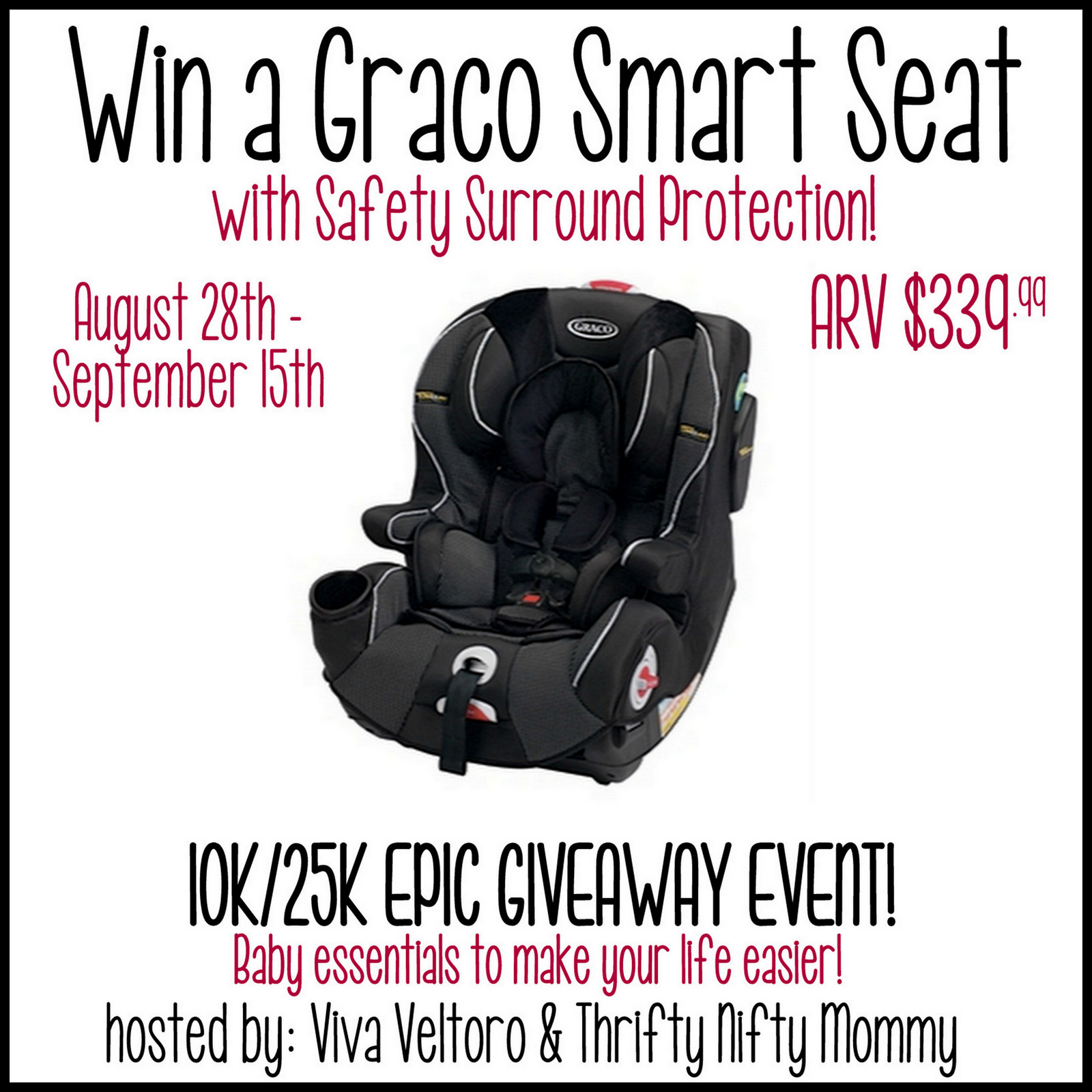 graco smart seat car seat giveaway ends 9 15. Black Bedroom Furniture Sets. Home Design Ideas
