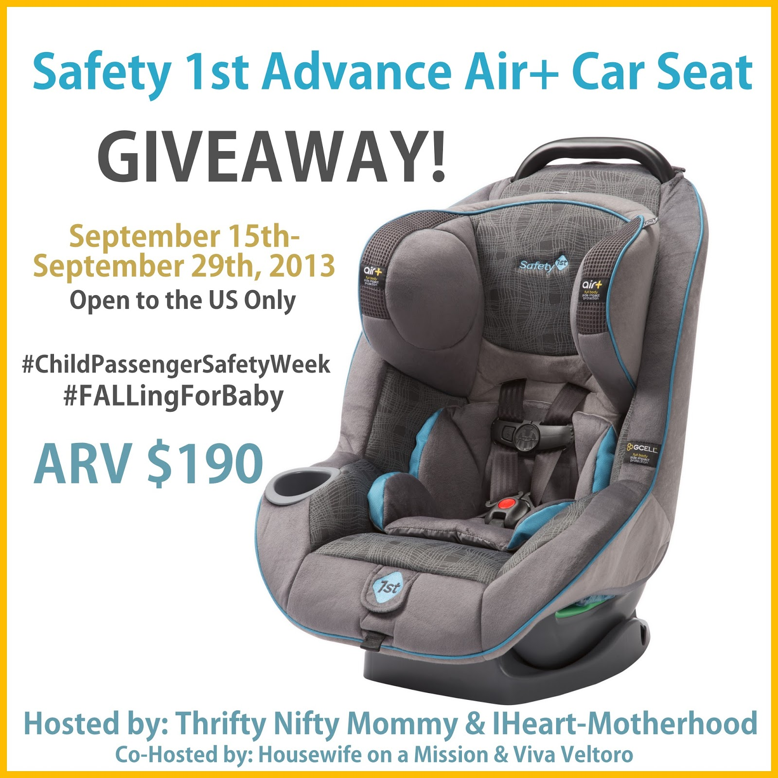 safety 1st advance air car seat giveaway ends 9 29. Black Bedroom Furniture Sets. Home Design Ideas