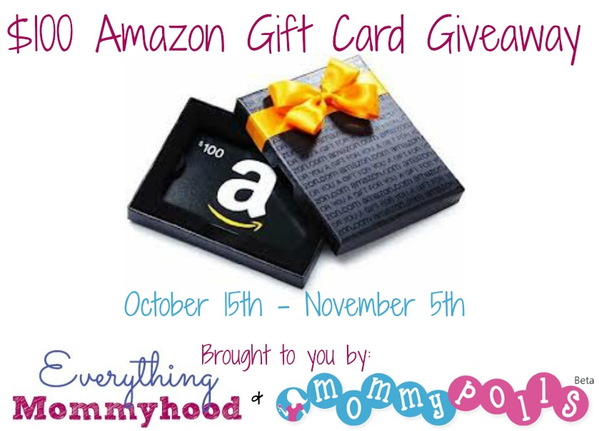 Enter to win $100 Amazon Gift Card. Giveaway ends 11/5.