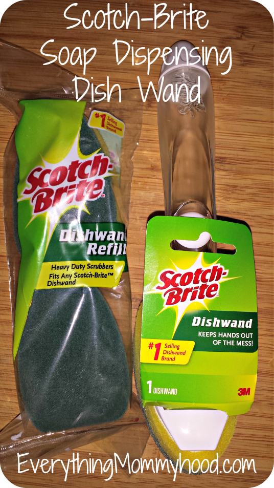 how to use scotch brite dishwand