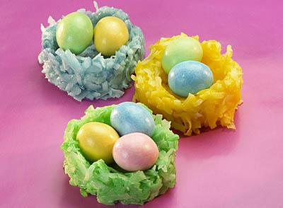 Coconut Marshmallow Nests