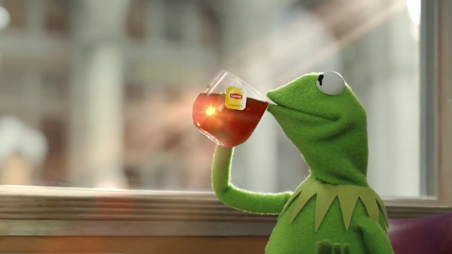 Win free tickets to Muppets Most Wanted & a Lipton Tea ...Kermit Drinking Tea