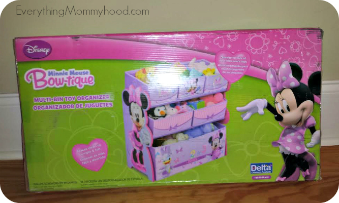 Delta Children Minnie Mouse Multi Bin Organizer Review Giveaway Ends 3 25 Everything Mommyhood