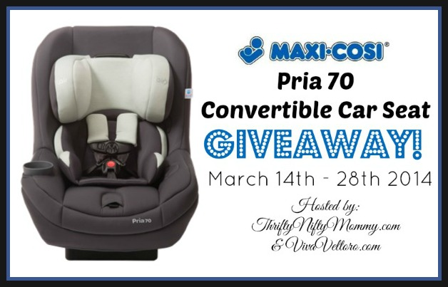 maxi cosi pria 70 convertible car seat giveaway ends 3 28. Black Bedroom Furniture Sets. Home Design Ideas