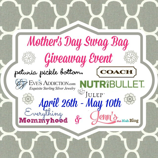 Enter the Mother's Day Swag Bag Giveaway. Ends 5/10.