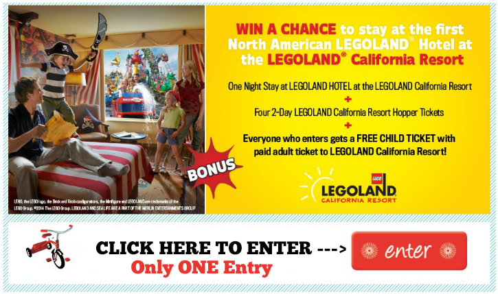 legoland hotel tickets giveaway ends 6 16 everyone who enters gets a free child ticket. Black Bedroom Furniture Sets. Home Design Ideas