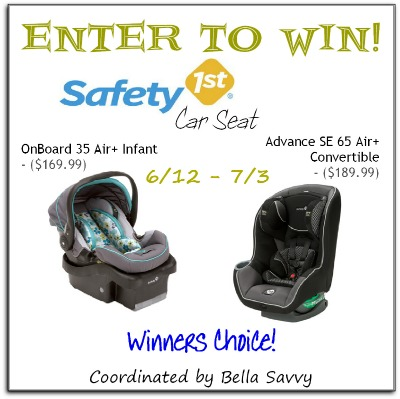 safety 1st car seat giveaway winner 39 s choice ends 7 3 everything mommyhood. Black Bedroom Furniture Sets. Home Design Ideas