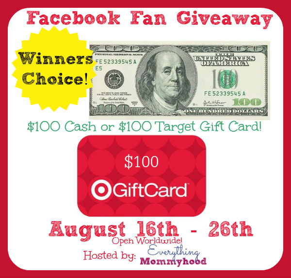 $100 Cash Or Target Gift Card Giveaway
