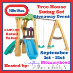 Blogger Opp: Little Tikes Treehouse Swingset Giveaway Event
