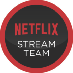 Netflix Stream Team Badge Round