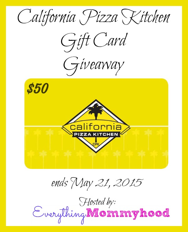 good California Pizza Kitchen Gift Cards #5: California Pizza Kitchen #CPKDEARMOMSWEEPS u0026amp; $50 Gift Card Giveaway u2013 ends 5/21