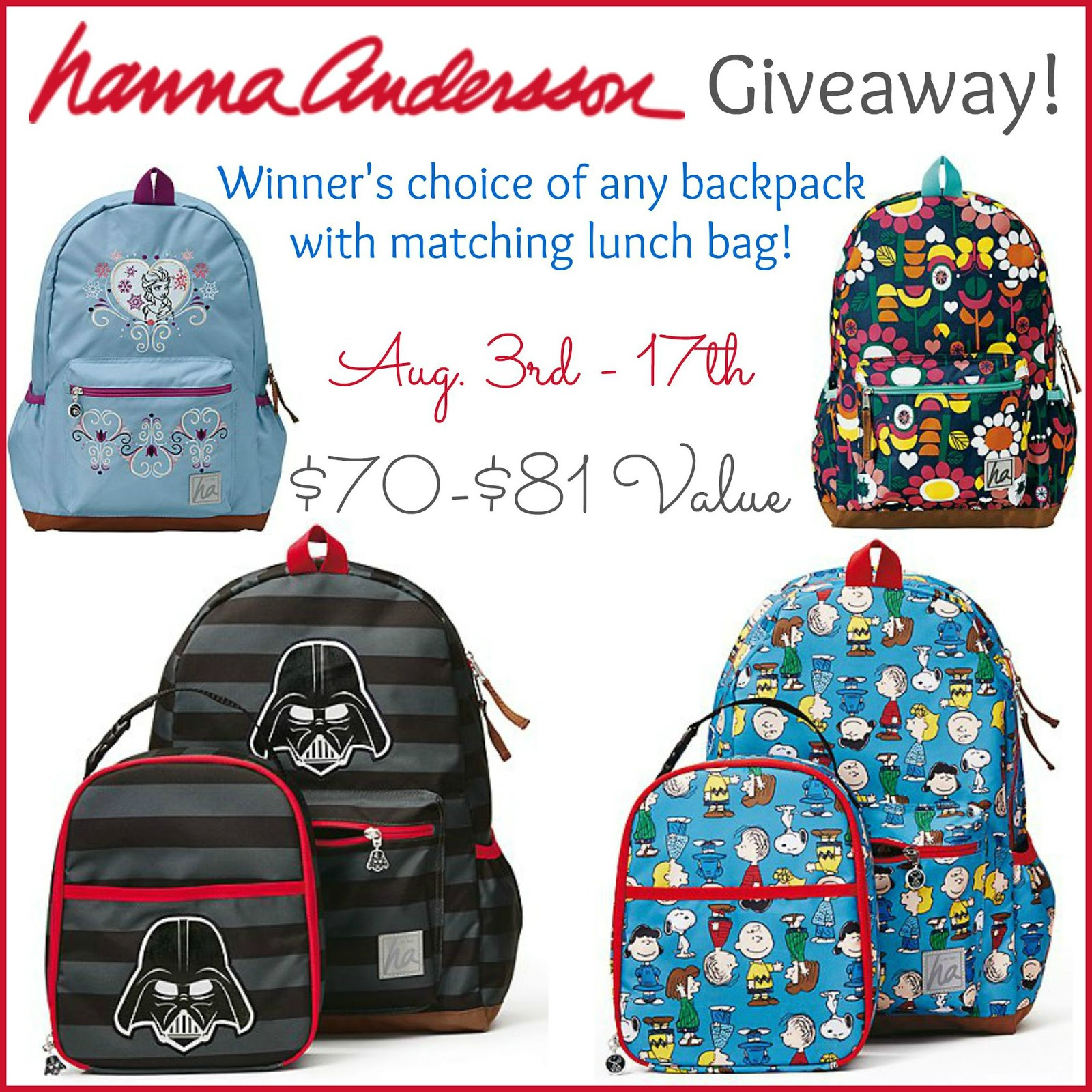 hanna andersson backpack and lunch bag giveaway  u2013 ends 8  17