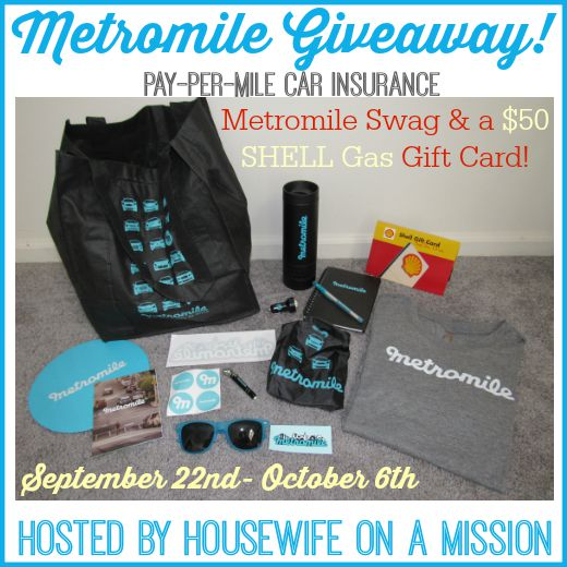 Design Your Own Swag Contest Ends Today: Metro Mile Swag Bag & $50 Shell Gas Gift Card Giveaway