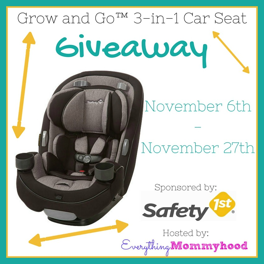 safety 1st grow and go 3 in 1 convertible car seat review giveaway ends 11 27. Black Bedroom Furniture Sets. Home Design Ideas