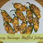 Game Day Recipe: Cheesy Sausage Stuffed Jalapenos #GameDayTraditions