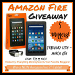 New Amazon Fire Tablet Giveaway – Five Winners – ends 3/4