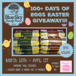 Blue Sky Family Farms 100+ Days of Eggs Easter Giveaway – ends 4/1 #EthicalEggs