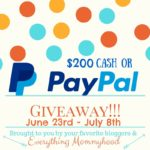$200 PayPal or Cash Giveaway – ends July 8th