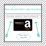 Pure Body Naturals $100 Amazon Gift Card Giveaway – ends 4/12