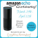 Amazon Echo Giveaway $179.99 Retail Value – ends 4/12 #AmazonEcho