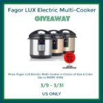Fagor LUX Electric Multi-Cooker Giveaway – ends 3/31