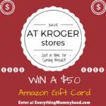Double Dip on Fuel Points at Kroger Until 3/21 & a $50 Amazon Gift Card Giveaway #Kroger4xFuel